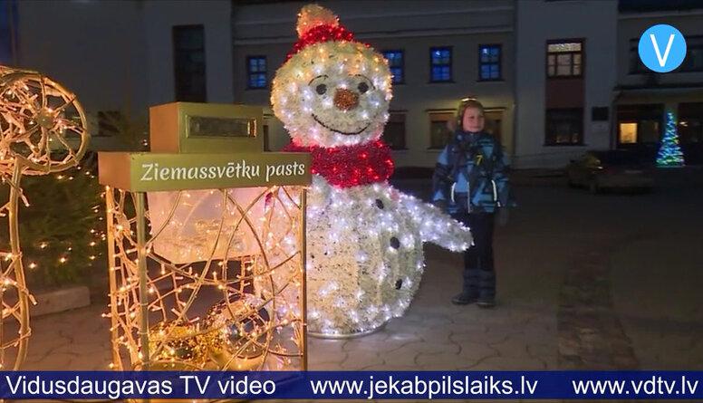 Jēkabpilī daudz jaunu Ziemassvētku rotājumu