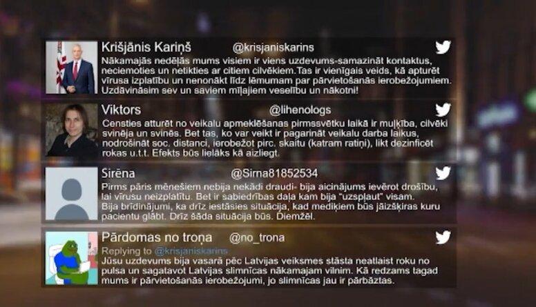 Tvitersāga: Covid-19 ierobežojumi Latvijā
