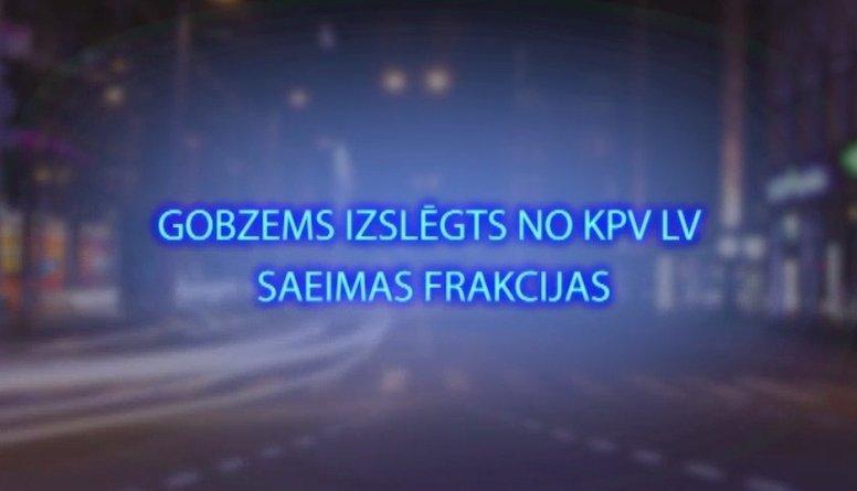 """Tvitersāga: Gobzems izslēgts no """"KPV LV"""" Saeimas frakcijas"""