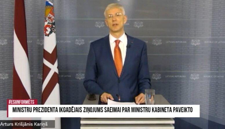 Speciālizlaidums: Premjera ikgadējais ziņojums Saeima par Ministru kabineta paveikto