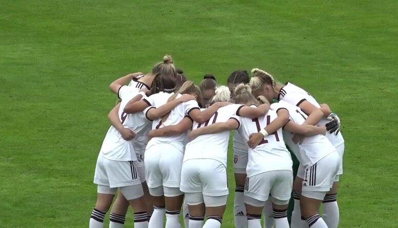 UEFA PK kvalifikācijas turnīra spēle futbolā sievietēm: Latvija - Austrija. Spēles ieraksts