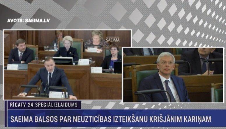 Speciālizlaidums: Saeima balsos par neuzticības izteikšanu Kariņam