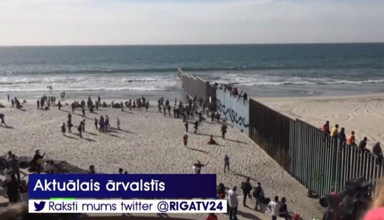 Pie ASV un Meksikas robežas ieradušies jau 1500 migrantu