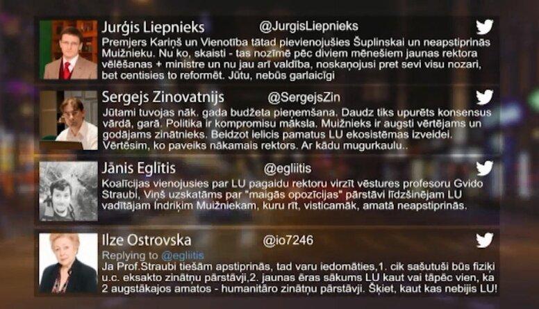 Tvitersāga: LU rektora vēlēšanas
