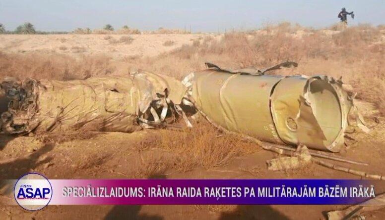 Speciālizlaidums: Irāna raida raķetes pa militārajām bāzēm Irākā 1. daļa