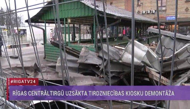 Speciālizlaidums: Rīgas Centrāltirgū uzsākta tirdzniecības kiosku demontāža