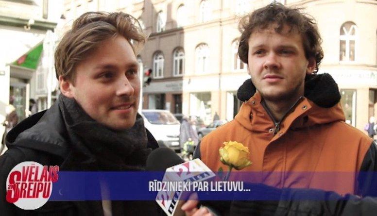Rīdzinieki dalās ar zināšanām par Lietuvu