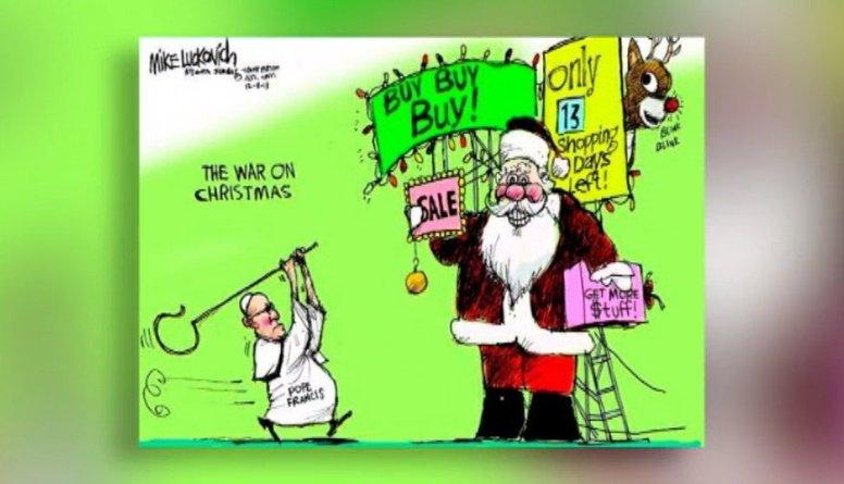 Ieskaties: Karikatūra par Ziemassvētku laiku