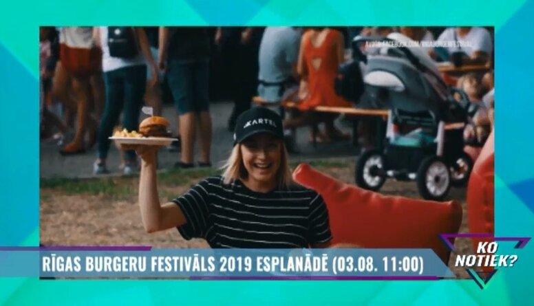 """""""Rīgas Burgeru festivāls 2019"""" Esplanādē"""