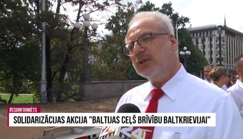 """Egila Levita intervija no solidarizācijas akcijas """"Baltijas ceļš. Brīvību Baltkrievijai"""""""