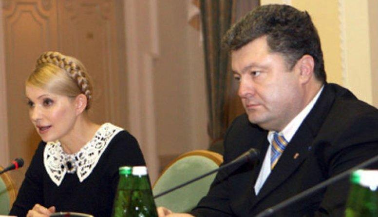 Porošenko un Timošenko bijušas aizmugures sarunas?