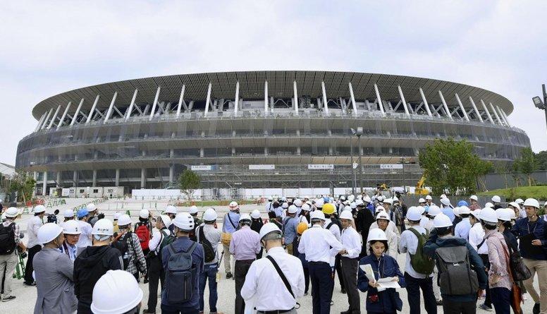 Teju pabeigts miljardu vērtais Tokijas Olimpisko spēļu galvenais stadions