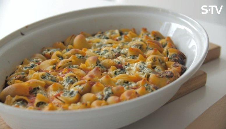 Recepte: pasta ar spinātiem un rikotas sieru