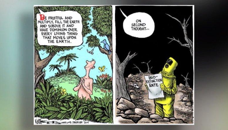Karikatūru apskats: Zemes klimata maiņa