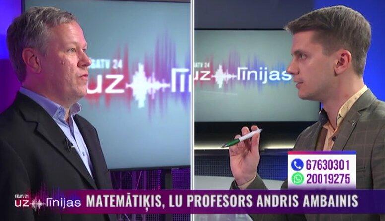 Matemātiķis Andris Ambainis par Covid-19 inficēto skaita pieaugumu Latvijā