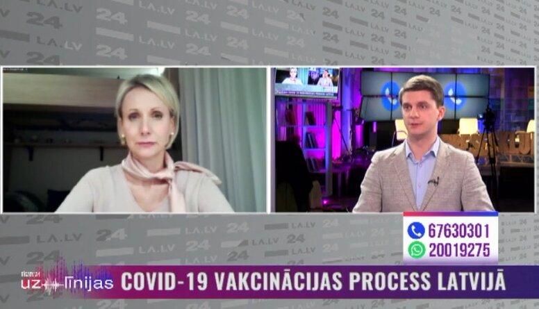 """Dace Zavadska par aizliegumu uz brīdi izmantot """"AstraZeneca"""" vakcīnu"""