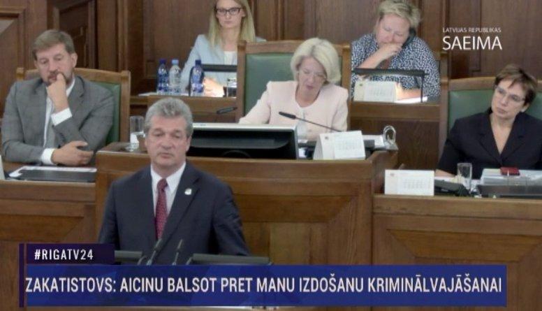 Speciālizlaidums: Saeima lemj par Zakatistova izdošanu kriminālvajāšanai