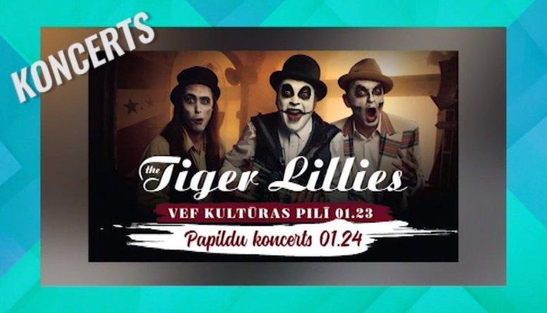 """Grupas """"The Tiger Lillies"""" koncerts VEF Kultūras pilī"""