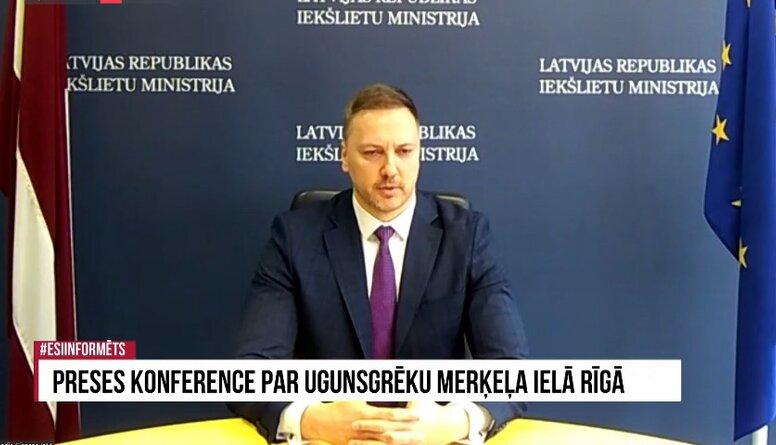 Speciālizlaidums: Preses konference par ugunsgrēku Merķeļa ielā Rīgā