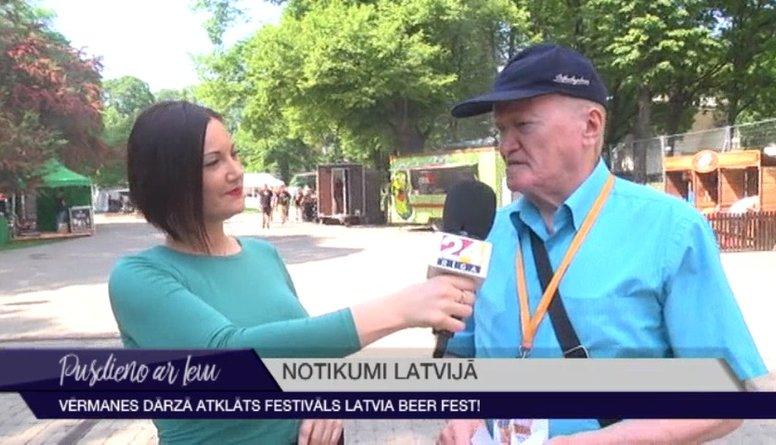 Vērmanes dārzā atklāts festivāls Latvia Beer Fest