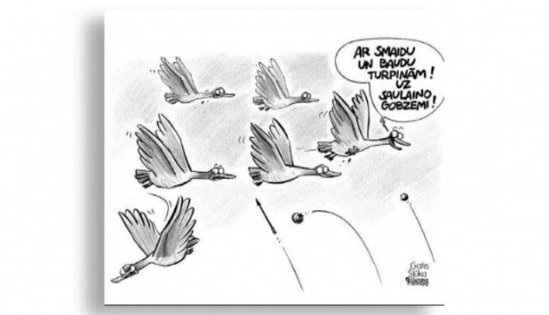 Karikatūru apskats: Adventes laiks Gobzemē