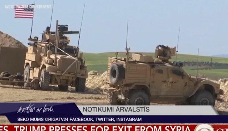 Ap 200 ASV karavīru paliks Sīrijā