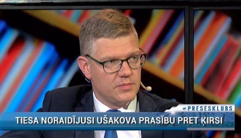 Ķirsis komentē pret viņu vērsto Ušakova prasību tiesā
