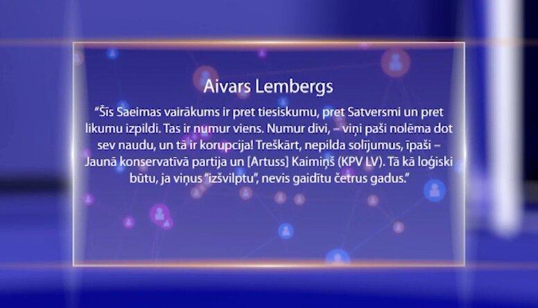Viedokļu līderi par Saeimas atlaišanu