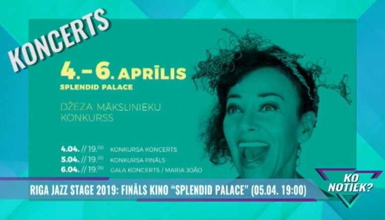 "Riga Jazz Stage 2019: fināls kino ""Splendid Palace"""