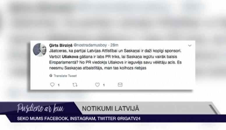 Soctīklotāji par Nila Ušakova atlaišanu