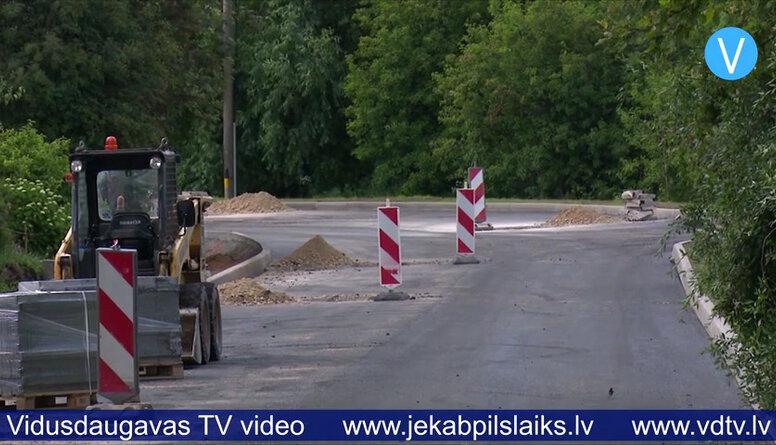 Sākta Zvaigžņu ielas asfaltēšana Jēkabpilī