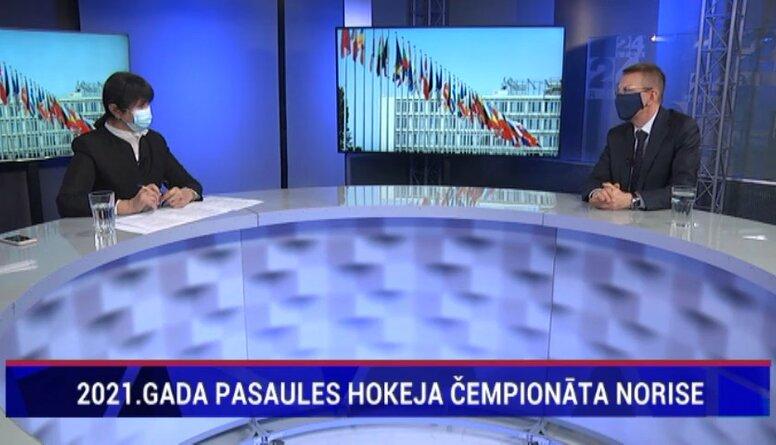 Rinkēvičs: Nevaru iedomāties, ka šajā situācijā PČ hokejā notiktu ne Baltkrievijā, ne Krievijā