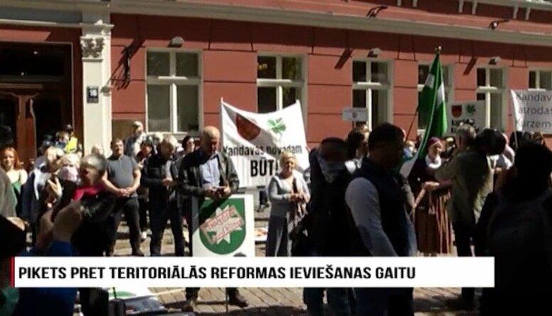 Speciālizlaidums: Pikets pret teritoriālās reformas ieviešanas gaitu