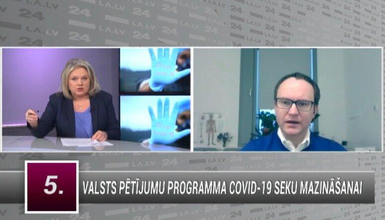 Skride: Šobrīd mirstība no Covid-19 ir 3. vietā Latvijā nāves iemesla ziņā