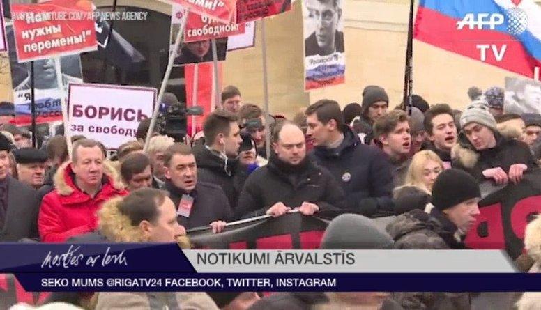 Maskavā tūkstošiem cilvēku piedalās Ņemcova piemiņas gājienā