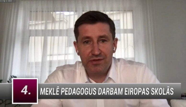 Vjačeslavs Dombrovskis par pedagogu trūkumu Latvijā