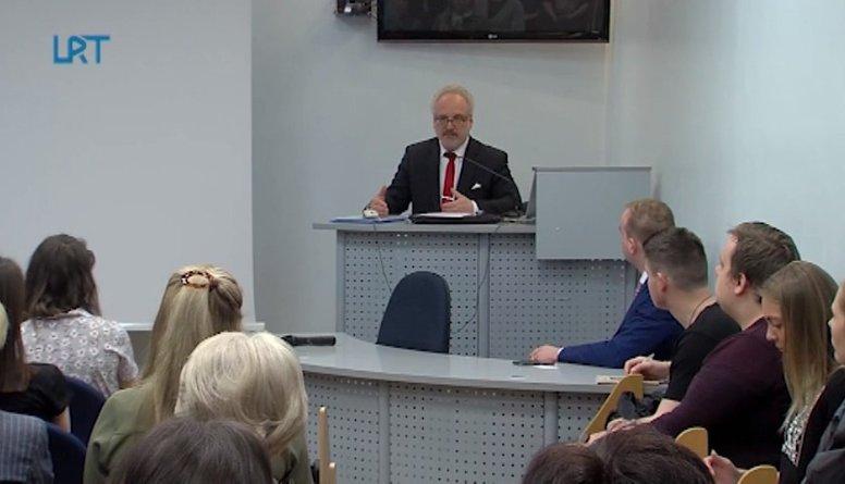 Daugavpils Universitāti apmeklēja Egils Levits