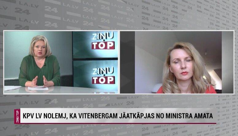Lībiņa-Egnere: Situācija ir dīvaina, bet, ja tāds lēmums ir pieņemts, tad ministra nomaiņa notiks