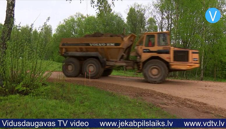 Jēkabpils novadā remontē autoceļu posmus
