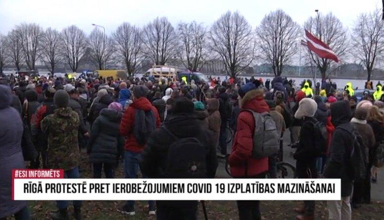 Speciālizlaidums: Rīgā protestē pret ierobežojumiem Covid-19 izplatības mazināšanai 1. daļa
