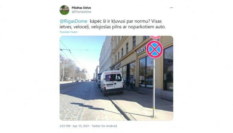 Kāpēc Rīgas veloceļi pilni ar noparkotiem auto?