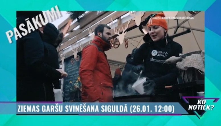 Ziemas garšu svinēšana Siguldā!