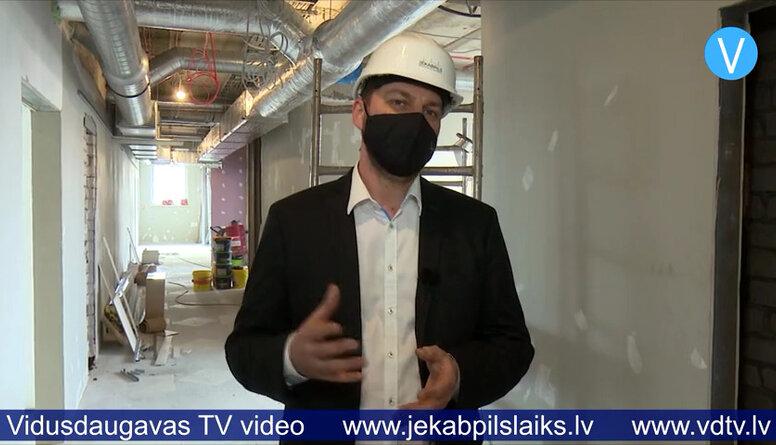 Jēkabpils reģionālajā slimnīcā rit būvdarbi