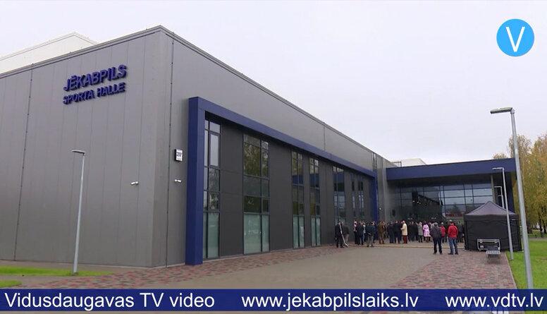 Atklāj Jēkabpils sporta halli