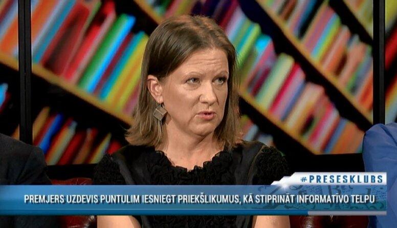 Olsena: Informatīvās telpas stiprināšana ir visu kopējās interesēs