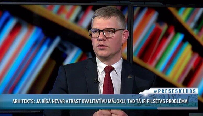 Rīgas vicemērs Vilnis Ķirsis par kvalitatīvu mājokļu trūkumu galvaspilsētā