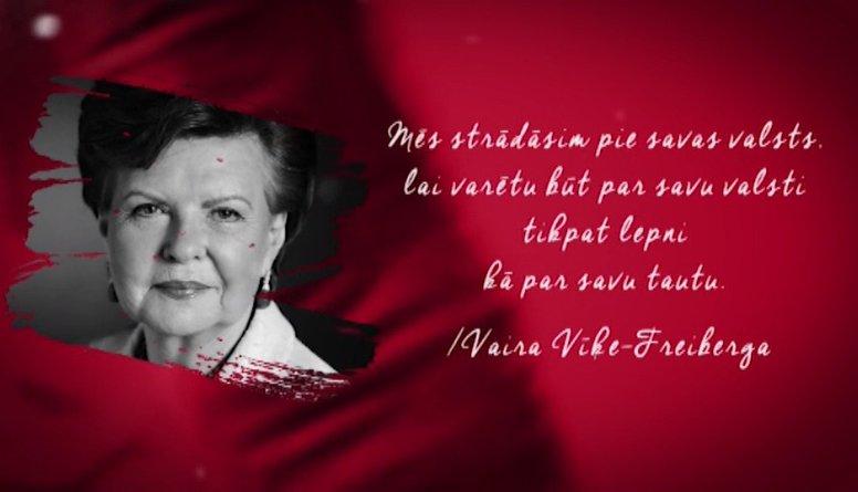 Vairas Vīķes-Freibergas citāts Latvijas simtgadei