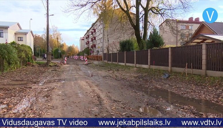 Jēkabpilī pārbūvē Palejas ielu