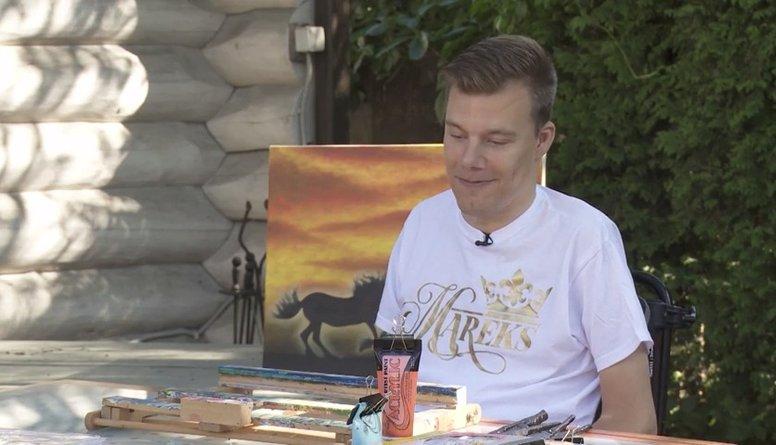 Mareks Odumiņš - paralizēts, bet glezno!