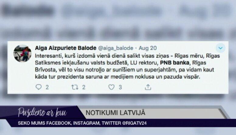 Tvītotāji par PNB bankas krahu